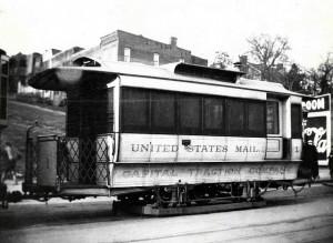 mail trolley car