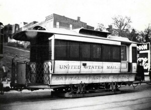 mail trolley car